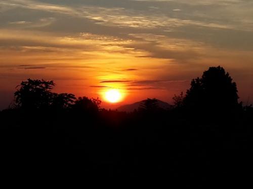 So einen schönen Sonnenuntergang hatte ich heute.