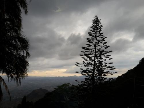 Abendstimmung auf dem Hochplateau von Zomba. Hier ist jetzt Wintersonnenwende. Um 17:45 Uhr wird es dunkel und um 18:00 Uhr IST es dunkel! Bei aktuell gleicher Ortszeit wie in D!